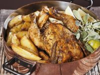 Crispy Chicken with Potatoes Greek Style recipe