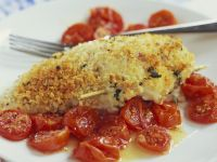 Crispy Chicken with Tomatoes recipe