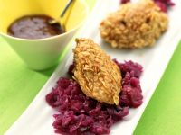 Crispy Oat-coated Duck Breast with Red Cabbage recipe