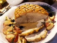 Crispy Roast Pork with Apples and Prunes recipe