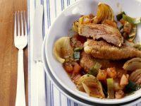 Crispy Sautéed Liver with Onions and Leeks recipe