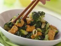 Crispy Tofu and Broccoli Stir-Fry recipe