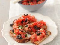 Crostini with Olives and Tomato recipe