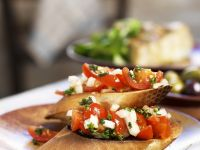 Crostini with Tomatoes, Onions and Parsley recipe