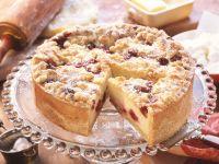 Crumble Cheese and Cherry Cake