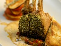 Crusted Lamb with Sauce recipe