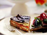 Crustless Vegetable Quiche with Eggplant and Peppers recipe