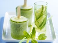 Cucumber and Mint Iced Lollipops recipe