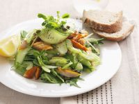 Cucumber Salad with Watercress and Smoked Fish recipe