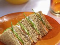 Cucumber, Salmon, and Cream Cheese Finger Sandwiches recipe