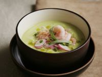 Cucumber Soup with Radish and Shrimp recipe