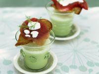 Cucumber Soup with Tuna Toast recipe