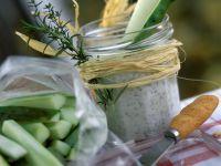 Cucumber with Herb Dip recipe
