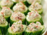 Cucumbers Stuffed with Radishes and Quark recipe