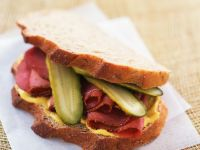 Cured Beef and Pickle Sandwich recipe