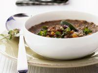 Cured Pork and Lentil Stew recipe