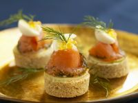 Cured Salmon Bites recipe