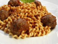 Curly Pasta with Polpetti recipe