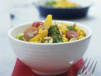 Curried Bulgur and Vegetable Stir-Fry with Coconut Milk recipe
