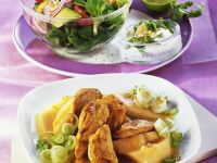 Curried Chicken with Melon recipe