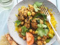 Curried Chicken with Turmeric Rice recipe