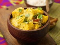 Curried Fresh Corn with Coconut Milk and Cilantro recipe
