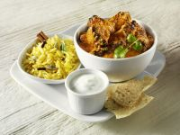 Indian Curried Lamb and Traditional Accompaniments recipe
