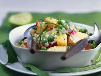 Curried Rice Bowl with Veggies recipe