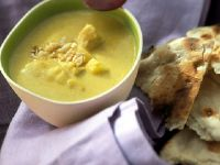 Curried Soup with Naan recipe