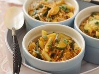 Curried Zucchini and Wax Beans with Basmati Rice recipe