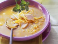 Curry-rice Soup with Chicken and Mango recipe