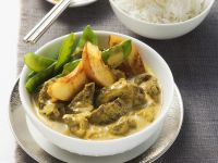 Curry with Beef and Nectarines recipe