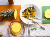 Curry with Pineapple, Spinach, Onions and Tomatoes recipe