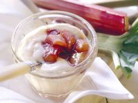 Custard with Rhubarb Compote recipe