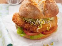 Cutlet Sandwiches with Vegetables and Avocado Cream recipe