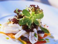 Cuttlefish and Paprika with Olives recipe