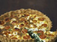 Dairy-free Tomato and Spinach Tart recipe