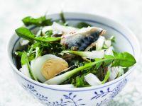 Dandelion and Fish Salad recipe