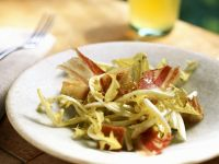 Dandelion Salad with Bacon and Croutons recipe