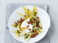 Dandelion Salad with Poached Egg recipe