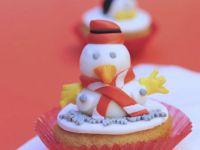 Decorated Cakes with Snowmen recipe
