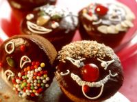 Decorated Chocolate Cupcakes with Chocolate Topping recipe