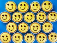 Decorated Smile Cakes recipe