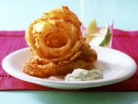 Deep-fried Onion Rings with Dip recipe