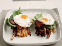 Deep-Fried Potatoes with Eggs and Bacon recipe