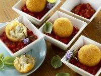 Deep-Fried Rice Balls with Tomato Sauce recipe