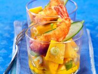 Deep-Fried Shrimp on a Fruity Salad recipe