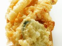 Deep-fried Tempura Seafood and Vegetables recipe