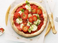 Delicious Pizza Dessert with Strawberries recipe