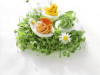 Deviled Eggs with Cress recipe